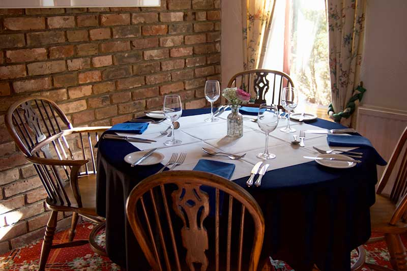 The Farmhouse Inn Thaxted restaurant